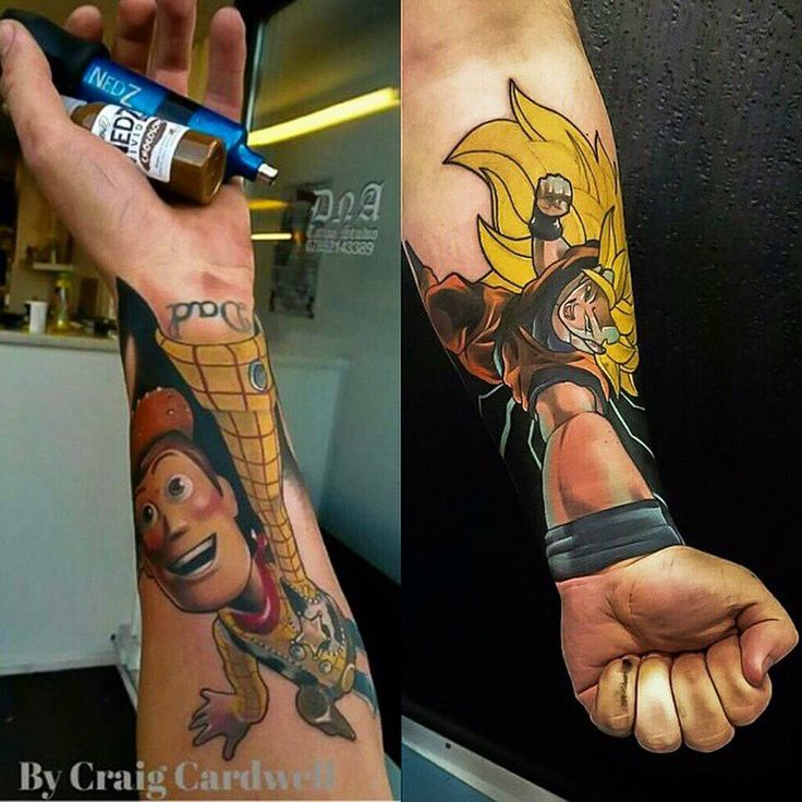 Toys For Tats : Forearm tattoo if woody from pixar s toy story disney