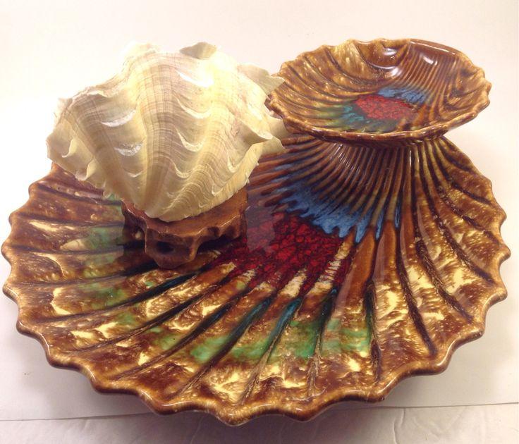 USA ceramic Pottery midcentury snack serving bowl chip