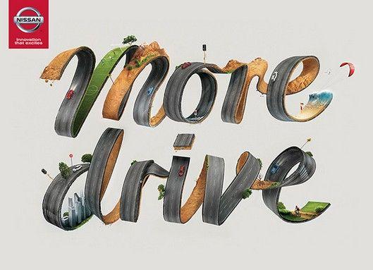 "Nissan #Creative #Print #Ads -""MORE DRIVE"""