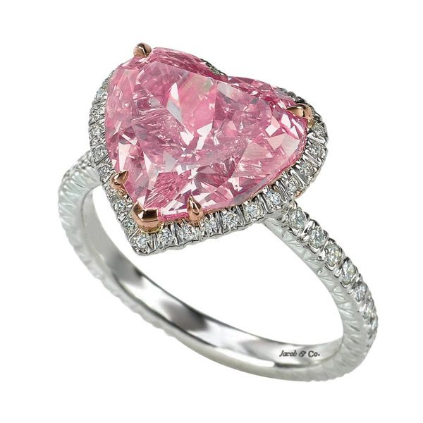 Heart-cut pink diamond pavé ring by Jacob & Co.!!! Bebe'!!! Pretty In Pink!!! Tickled pink diamond pave ring!!!