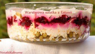 Estonia: Kihiline peedi-juustusalat - różowa sałatka 7-warstwowa