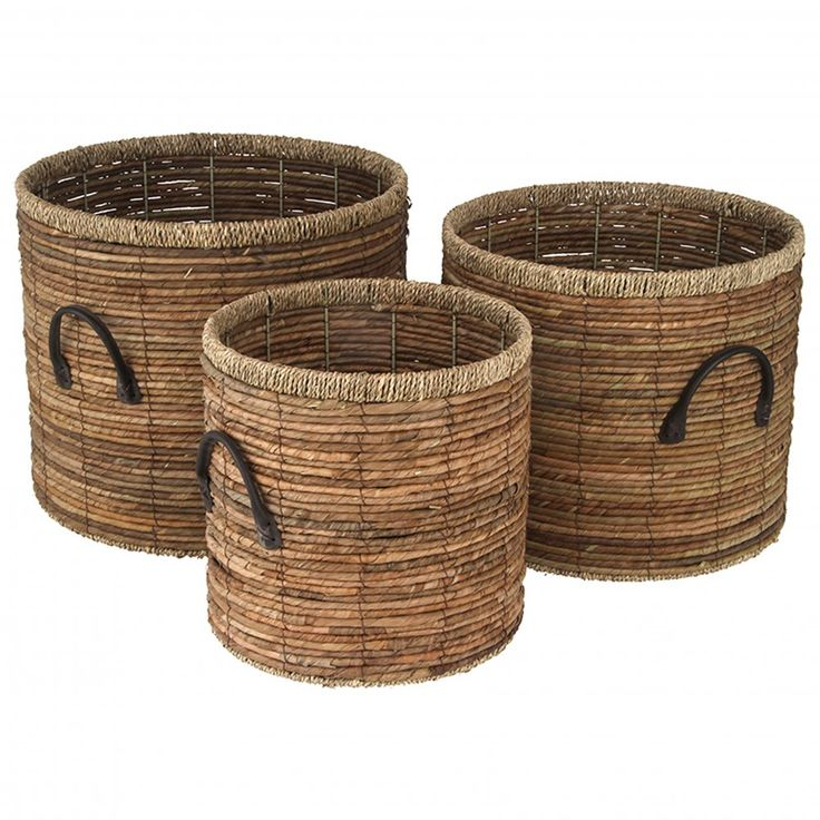 How To Weave A Basket From Banana Leaves : Images about storage baskets on white