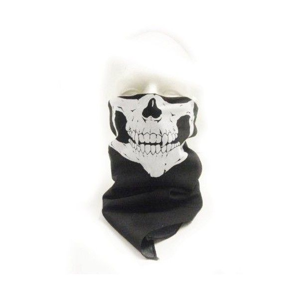 New Skeleton Skull Bandana Snowboard Skiing Motorcycle Biking Rave... ($6.95) ❤ liked on Polyvore featuring accessories, masks and hats