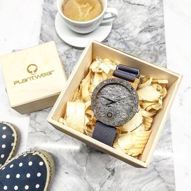 Drewniany zegarek serii Raw - Double Silver - Dąb