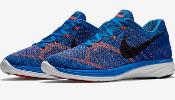 Nike Men's Flyknit Lunar3 Athletic Snickers Shoes Blue Size 11.5 ; EUR 45.5 New #Nike #AthleticSneakers