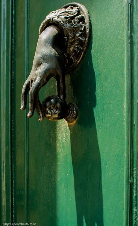 thebrman: Green Door Antique door handle -... | La vie en rose