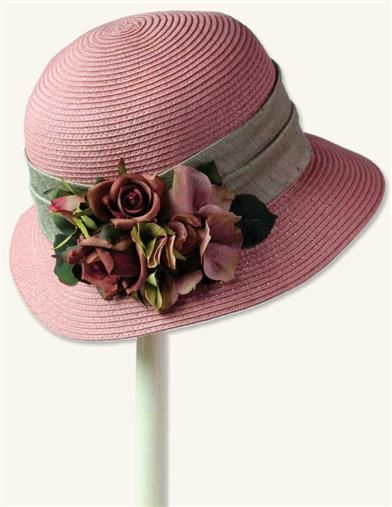 Pretty in a dusty pink - perfect for Easter Sunday ROSALIND CLOCHE
