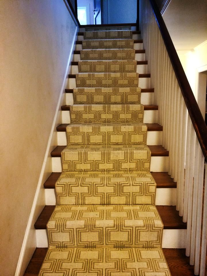 A Modern Carpet Remnant Turned Into A Custom Stair Runner