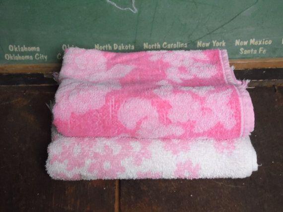 Hand Towels/Pink Towels/Pink Hand by OldSteamerTrunkJunk on Etsy