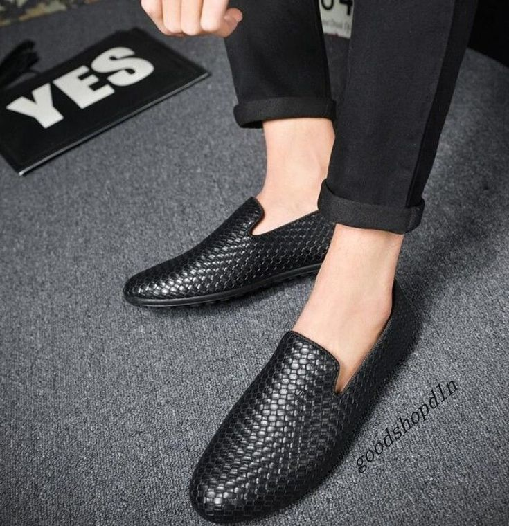 Mens New Fashion PU Leather Woven Breathable Slip On Casual Driving Shoes Loafer | Clothing, Shoes & Accessories, Men's Shoes, Casual | eBay!