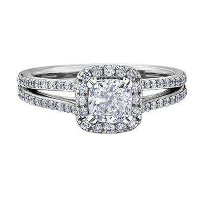 I Am Canadian Solitare Diamond Ring See More Maple Leaf Diamonds Halo Cushion