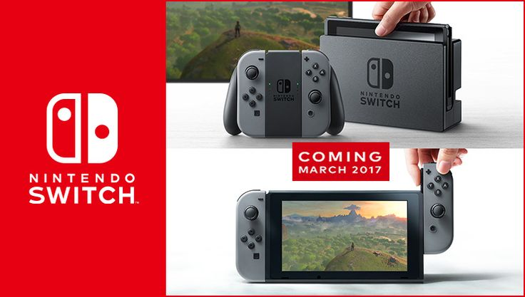 """Nintendo, one of the world's largest video game companies from Japan, announced today that they will launch a new """"Nintendo Switch"""" gaming system in March 2017."""