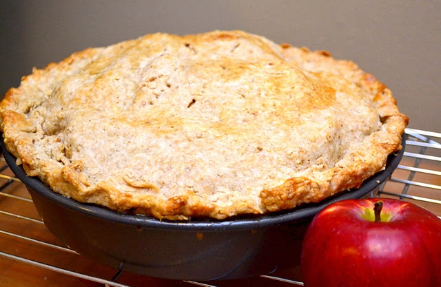 Apple Pie with a super-easy Whole Grain Crust!