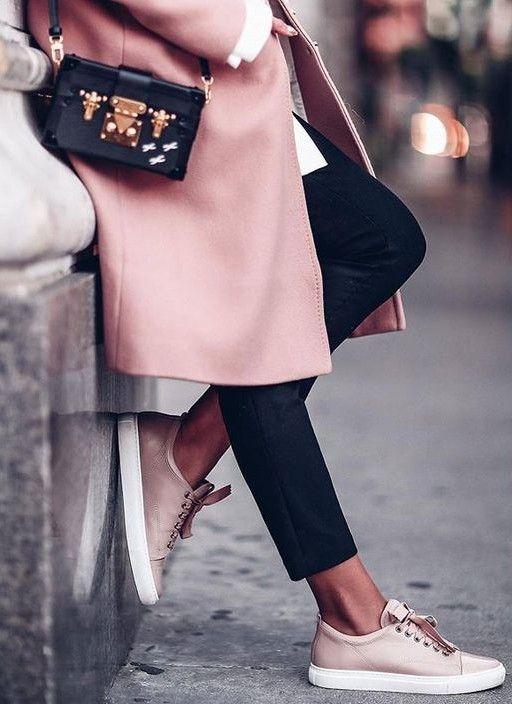 pink + black. street style.