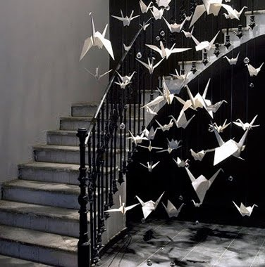 instead of flowers for an entrance @Emily Schoenfeld Schoenfeld Krystof i think this is something karen would adore