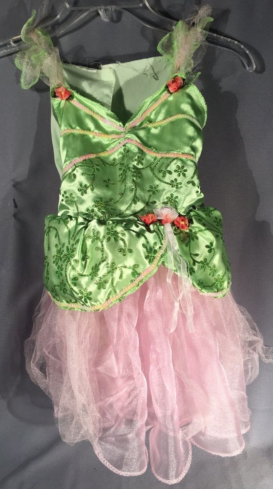 Green And Pink Princess Dress Up Dress  Child's Size