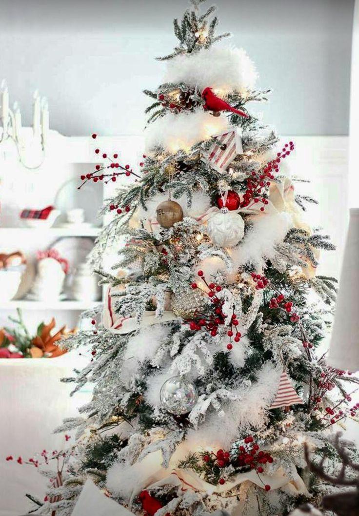 best 25 flocked christmas trees ideas on pinterest. Black Bedroom Furniture Sets. Home Design Ideas