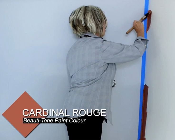 When #painting a wall, only cut in 3-5 feet at a time to get an even, professional finish.