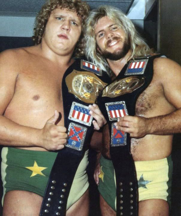 NWA National Tag Team Champions The Fabulous Freebirds (Gordy and Hayes)