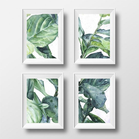 set of 4 botanical prints by Aleksandra Stanglewicz https://www.etsy.com/uk/listing/507725027/
