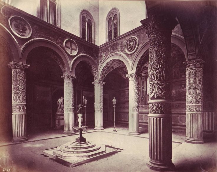 Giorgio Sommer - Florence - Courtyard of Palazzo Vecc