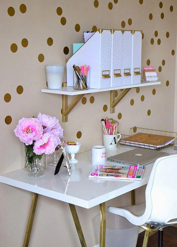 8 Ways To Design Your Office Like An OG Girl Boss: #5. Organizers  #decoratingyourhomeoffice