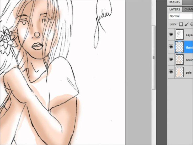 Colorindo desenhos no photoshop