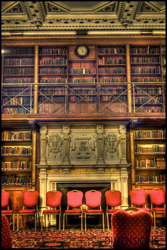 Library at Keele Hall