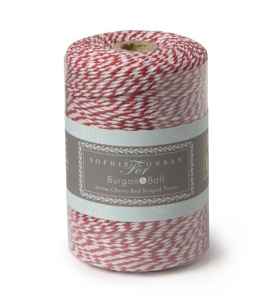SOPHIE CONRAN  |  Striped Twine - Cherry Red