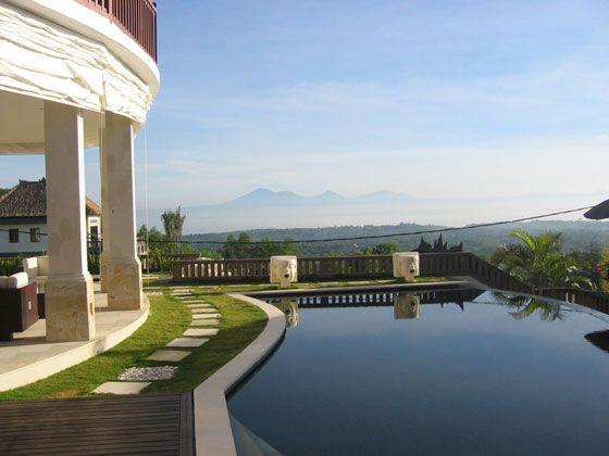 bali villa blue horizon pool view