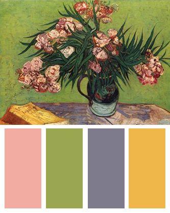 Color Palette inspired by Vincent van Gogh's Oleanders