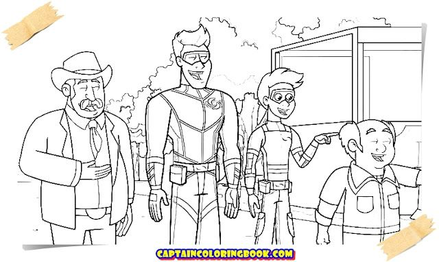 the adventures of kid danger coloring book nel 2020 bambini