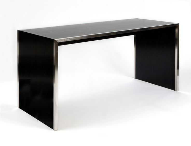 Sliver Desk  Transitional, Contemporary, Metal, Wood, DesksWriting Table by…