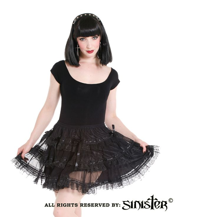Mesh with lace gothic miniskirt by Sinister (460) www.sinister.nl