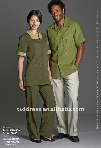 New style cotton Cleaning Uniforms Housekeeping Custom Made by CTD $34~$59