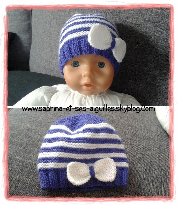 Les 25 meilleures id es de la cat gorie bonnet naissance sur pinterest sacs de couchage pour - Monter mailles tricot debutant ...