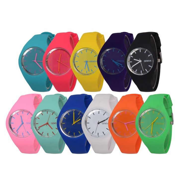 GENEVA  Candy Colored Leisure Watch     Tag a friend who would love this!     FREE Shipping Worldwide     Buy one here---> https://www.1topick.com/geneva-candy-colored-jelly-silicone-strap-leisure-watch/