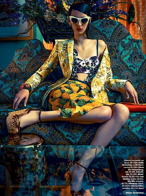 she-loves-fashion:  SHE LOVES FASHION: Waleska Gorczevski by Zee Nunes for Vogue Brazil November 2013