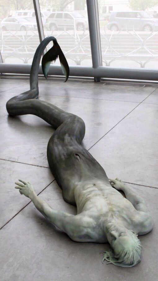 The Merman by sculpture artist Cameron Stalhei.