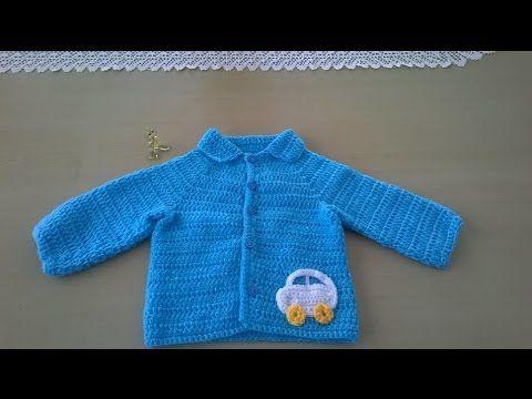Chaquetita para niño: Como hacer una chaqueta para bebé en crochet o ganchillo - YouTube