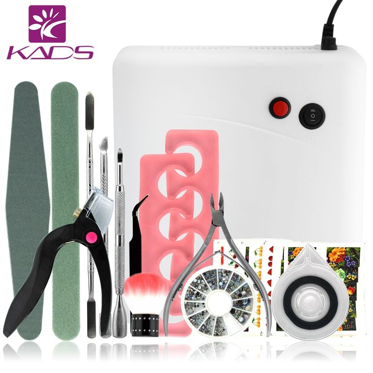 49.90$  Watch more here - http://aicfw.worlditems.win/all/product.php?id=32459573416 - 36w UV Lamp French Manicure Kit Nail Art Tools Sets Kits Nail Gel Nails Tools And LED UV Lamp for  UV Gel Nail Art Tools