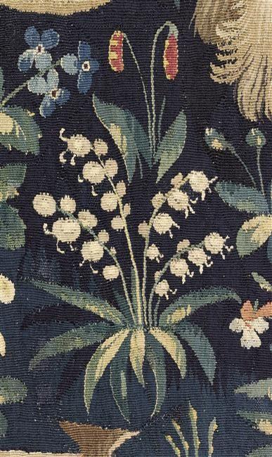 """Tenture de """"La Dame à la Licorne"""": la Vue. Paris, musée de Cluny - musée national du Moyen-Age"""
