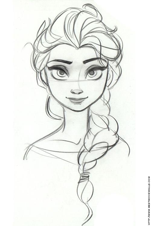 Elsa concept sketch FROZEN ✤ CHARACTER DESIGN REFERENCES