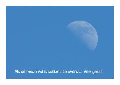 Geluk met volle maan! op Kaartje2go