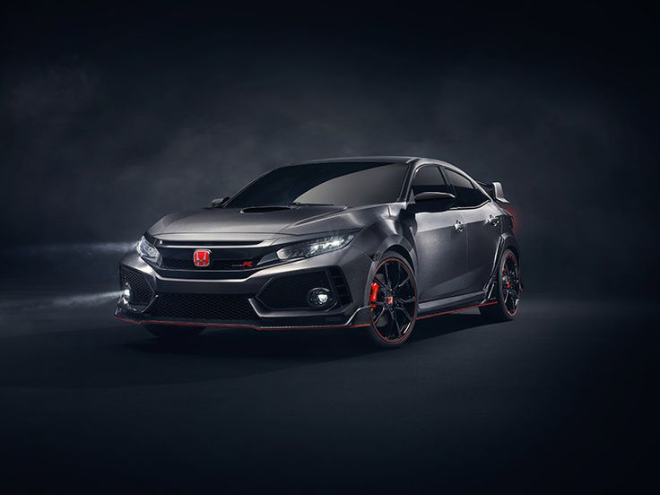the honda civic type R prototype has been revealed at the 2016 paris international motor show, offering an insight into the styling of the design which will be offered to america for the first time in 2017.