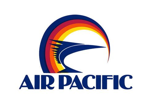 air pacific retro rainbow logo design retro airline design pinterest. Black Bedroom Furniture Sets. Home Design Ideas