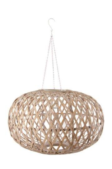 Bamboo Crisscross Hanging Pendant Ceiling Shade, Large