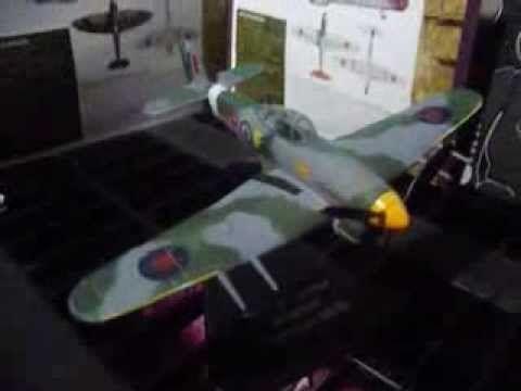 the D Day landings Hawker Typhoon mk 1b WW2 WAR PLANE atlas editions - YouTube
