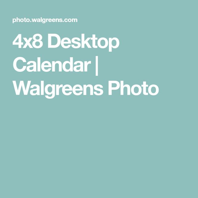 4x8 Desktop Calendar   Walgreens Photo