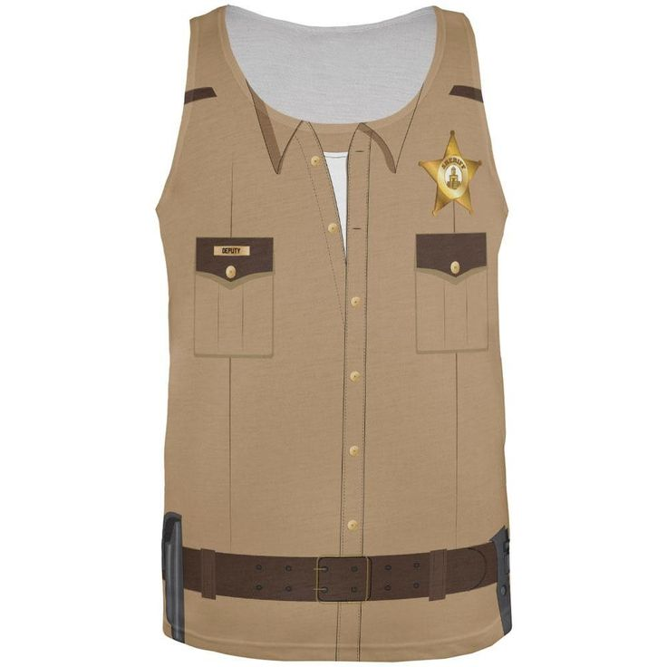Halloween Sheriff Costume All Over Adult Tank Top